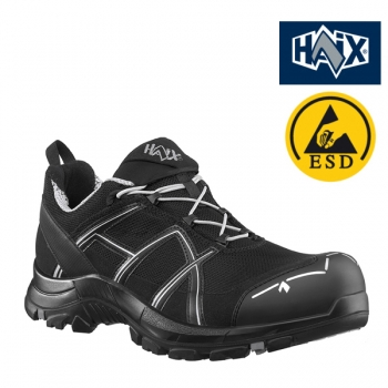 HAIX Black Eagle Safety 41.1 Low black/silver S1P
