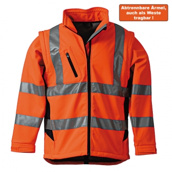 Warnschutz-Softshelljacke orange/marine