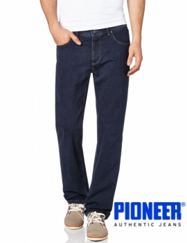 PIONEER Jeans 'Rando Black on Blue Stretch Denim'